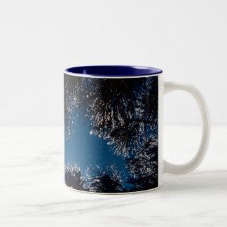 Winter sparkles / Ice on Pine Needles Two-Tone Mug