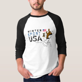Winter Sport USA Team Dog Snowboard T-Shirt