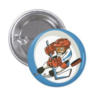 Winter Sports Hockey Flair Button