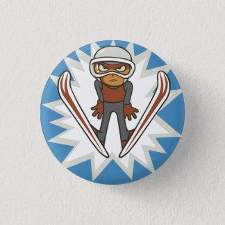 Winter Sports Ski Jumper Flair Pinback 1 Inch Round Button