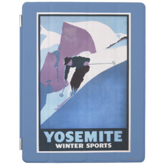 Winter Sports Skiing Promotional Poster iPad Cover