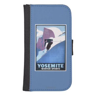 Winter Sports Skiing Promotional Poster Phone Wallet Case
