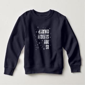 Winter Sports. Sleigh Crash. Funny, Sarcasm, Nerd. Sweatshirt