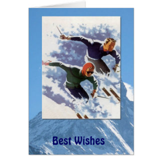 Winter Sports - Vintage racing downhill Card