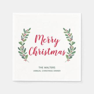 Winter Sprigs Christmas Cocktail Napkin Paper Napkins