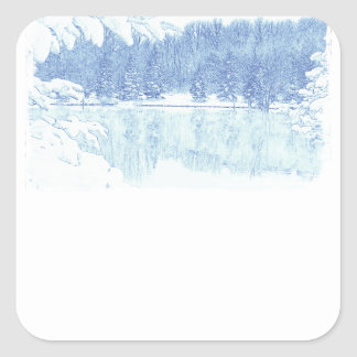 winter square sticker