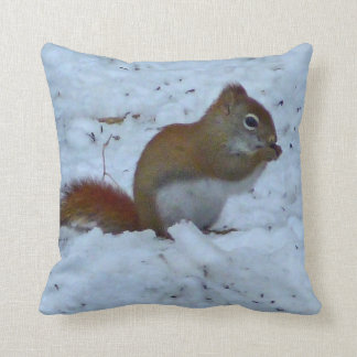 Winter Squirrel Pillow