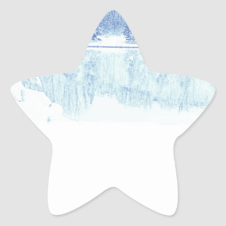 winter star sticker