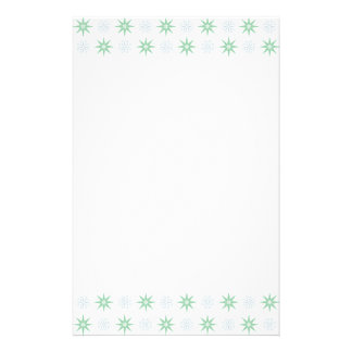 Winter Stars and Snowflake Pattern Personalized Stationery
