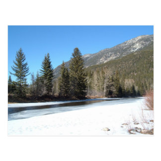 Winter Stillwater River, Montana Postcard