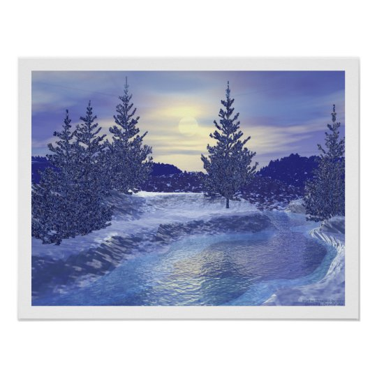 Winter Stream III Poster