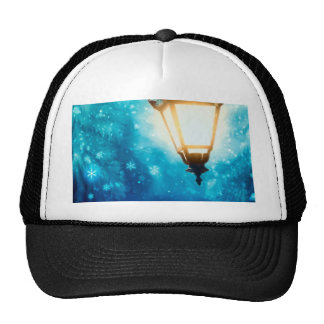 Winter Street Lamp 2 Trucker Hat
