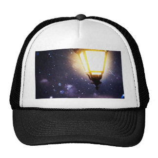 Winter Street Lamp Trucker Hat
