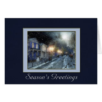 Winter Street Scene Holiday Greeting Card