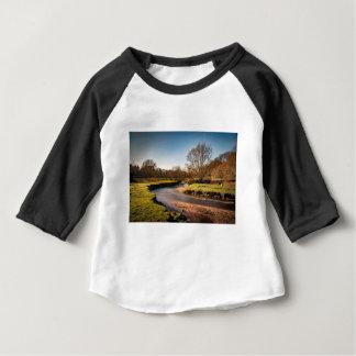 Winter Stroll Along The River Bollin Baby T-Shirt