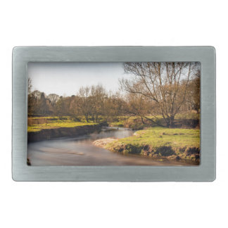 Winter Stroll Along The River Bollin Rectangular Belt Buckles