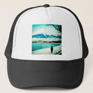 Winter Stroll Beneath Mt. Fuji 富士山 Vintage Japan Trucker Hat