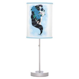 Winter Sugar Skull Table Lamp