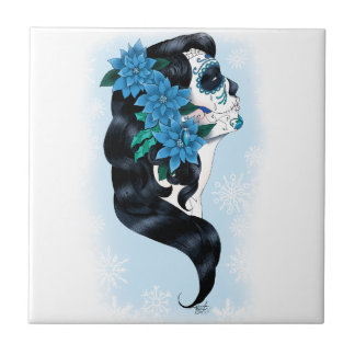Winter Sugar Skull Tile