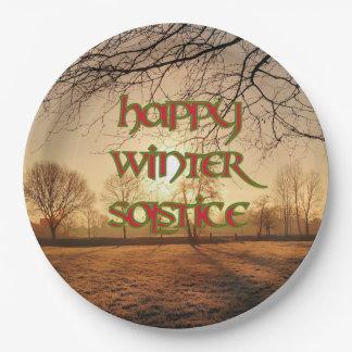 Winter Sun Paper Plate for Winter Solstice