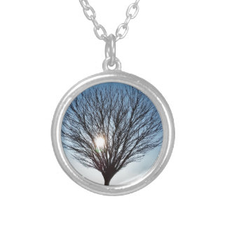 winter sun silver plated necklace