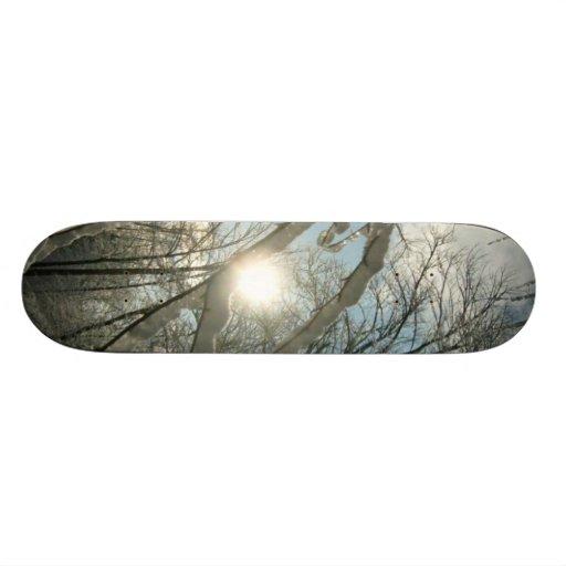 Winter Sunny Tree Skateboard