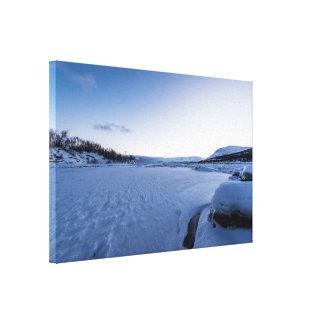 Winter Sunrise at Lake Tornetrask Canvas Print