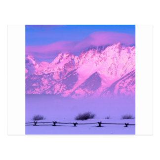 Winter Sunrise Grand Teton Wyoming Postcard