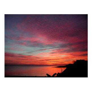 Winter Sunrise in East Hampton Postcard