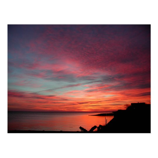 Winter Sunrise in East Hampton Postcard