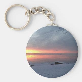 Winter sunrise keychain