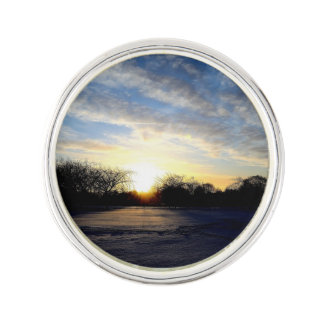Winter Sunrise Lapel Pin