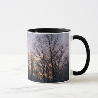 Winter Sunrise Pastel Nature Landscape Photography Mug