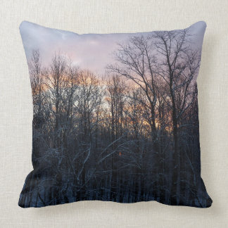 Winter Sunrise Pastel Nature Landscape Photography Throw Pillow