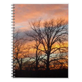 Winter Sunset 1 Notebook