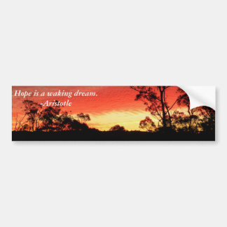 Winter Sunset Car Bumper Sticker