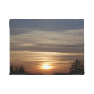Winter Sunset Doormat