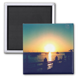 Winter Sunset in Key West Magnets