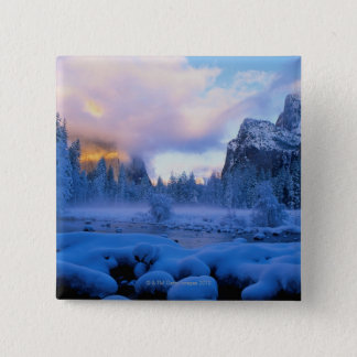 Winter Sunset in Yosemite National Park 2 Inch Square Button