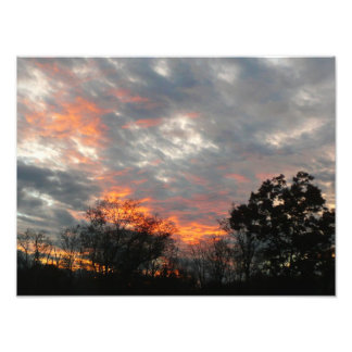 Winter Sunset Nature Landscape Photography Photo Print