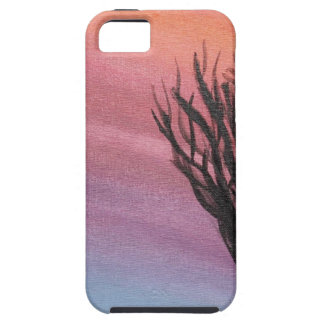 Winter Sunset- original abstract acrylic painting iPhone 5 Cover