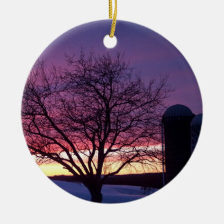 Winter Sunset Ornament
