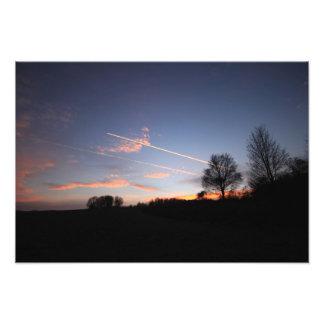 Winter sunset photo print