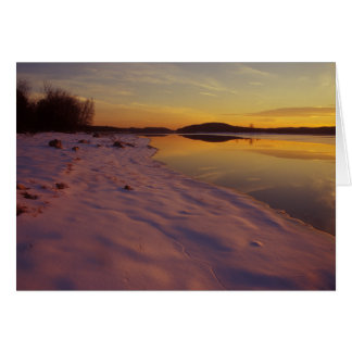 Winter Sunset Quabbin Reservoir Card