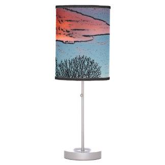 """Winter Sunset"" table lamp"