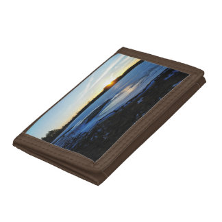 Winter Sunset Trifold Wallet