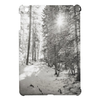 Winter Sunshine Forest Shades Of Gray Case For The iPad Mini