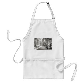 Winter Sunshine Forest Shades Of Gray Standard Apron