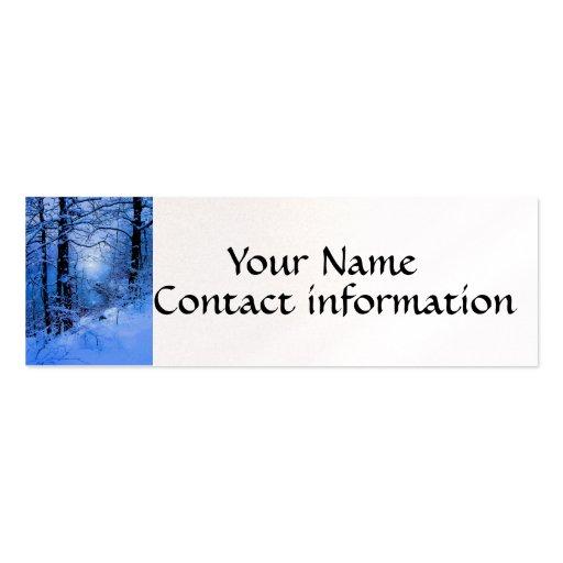 Winter Sunspot Across Lake Business Card Template