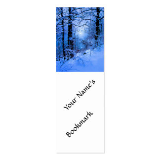 Winter Sunspot Across Lake Double-Sided Mini Business Cards (Pack Of 20)